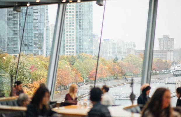 Terrace at Cactus Club Cafe Coal Harbour during Fall