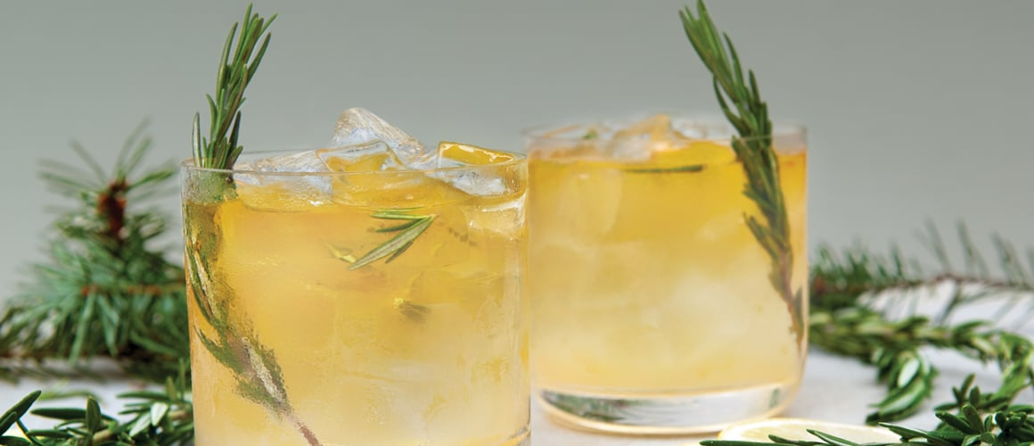 bulleit bourbon, ginger, rosemary, lemon and soda