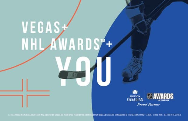 Enter for a chance to WIN* a Trip for Two to the 2018 NHL Awards™