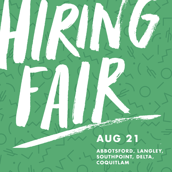 Hiring Fair August 21, 2018 | Langley Events Centre