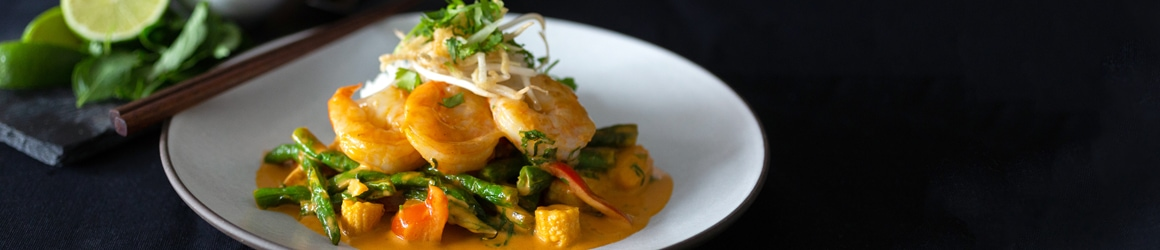Thai Red Curry + Prawns