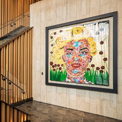 """Marilyn"" by Toronto's Daniel Mazzone is one of twenty original artworks in the new restaurant's collection."