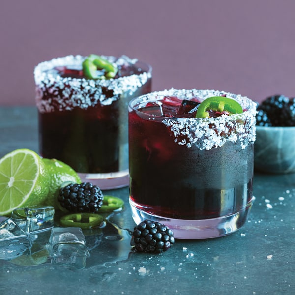 cazadores reposado tequila, triple sec, blackberry, lime and jalapeño