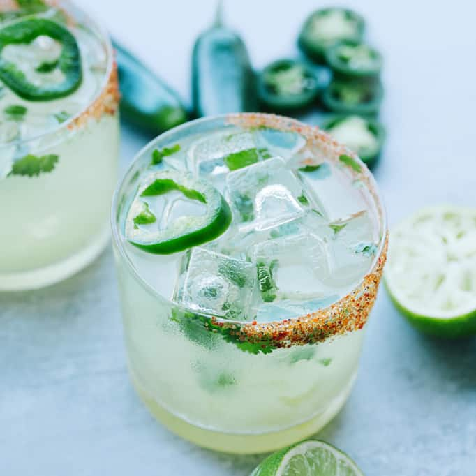cazadores reposado tequila, triple sec, lime, jalapeño, cilantro and smoked chili salt.