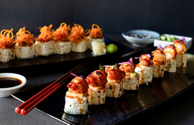 Prawn Crunch Roll, Spicy Ahi Roll