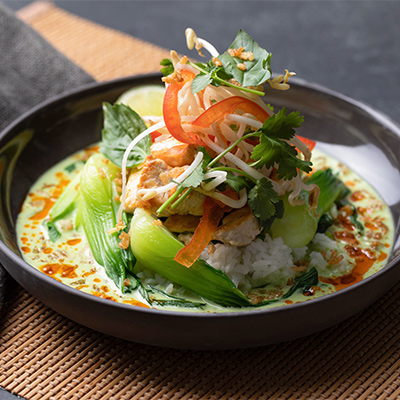 Thai Green Curry with Prawns | Cactus Club Cafe