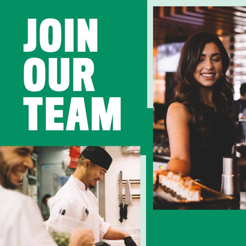 Join Our Team, we are hiring | Cactus Club Cafe